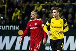 10.11.2018, Signal Iduna Park, Dortmund, GER, 1.FBL, Borussia Dortmund vs FC Bayern M&uuml;nchen, DFL REGULATIONS PROHIBIT ANY USE OF PHOTOGRAPHS AS IMAGE SEQUENCES AND/OR QUASI-VIDEO<br /> <br /> im Bild | picture shows:<br /> Franck Ribery (Bayern #7) mit Lukasz Piszczek (Borussia Dortmund #26), <br /> <br /> Foto &copy; nordphoto / Rauch