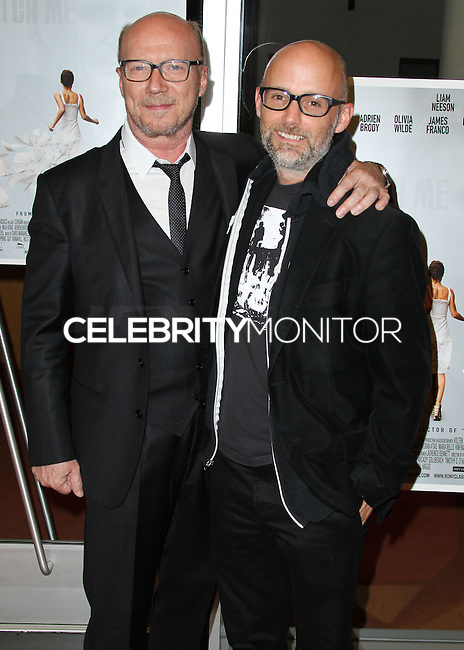 HOLLYWOOD, LOS ANGELES, CA, USA - JUNE 09: Paul Haggis, Moby at the Los Angeles Premiere Of Sony Pictures Classics' 'Third Person' held at the Linwood Dunn Theater at the Pickford Center for Motion Study - Academy of Motion Picture Arts and Sciences on June 9, 2014 in Hollywood, Los Angeles, California, United States. (Photo by Xavier Collin/Celebrity Monitor)