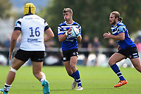 Tom de Glanville of Bath United in possession. Premiership Rugby Shield match, between Bristol Bears A and Bath United on August 31, 2018 at the Cribbs Causeway Ground in Bristol, England. Photo by: Patrick Khachfe / Onside Images