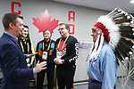 Pyeongchang, Korea, 17/3/2018-CPH, IPC, Andrew Parsons, Kristy Duncan, Minister of Science and Sport and Persons with a Disabilities, Patrick Jarvis visit Photo Scott Grant/Canadian Paralympic Committee.
