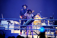 LONDON, ENGLAND - APRIL 12: Win Butler and R&eacute;gine Chassagne of 'Arcade Fire' performing at SSE Arena on April 12, 2018 in London, England.<br /> CAP/MAR<br /> &copy;MAR/Capital Pictures