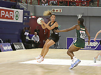 JOHANNESBURG, SOUTH AFRICA - JANUARY 25: Grace Kara of the Silver Ferns (l) and Precious Mthembu of the SPAR Proteas in action during the Netball Quad Series netball match between Spar Proteas and Silver Ferns at the Ellis Park Arena in Johannesburg. Mandatory Photo Credit: ©Reg Caldecott/Michael Bradley Photography