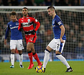 2nd December 2017, Goodison Park, Liverpool, England; EPL Premier League football, Everton versus Huddersfield Town; Morgan Schneiderlin of Everton on the ball