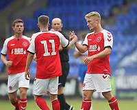 Fleetwood Town's Kyle Demsey celebrates scoring his sides first goal <br /> <br /> Photographer Mick Walker/CameraSport<br /> <br /> Football Pre-Season Friendly - Tranmere Rovers  v Fleetwood Town  - Saturday 21st July 2018 - Prenton Park - Tranmere<br /> <br /> World Copyright &copy; 2018 CameraSport. All rights reserved. 43 Linden Ave. Countesthorpe. Leicester. England. LE8 5PG - Tel: +44 (0) 116 277 4147 - admin@camerasport.com - www.camerasport.com