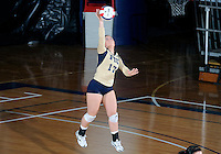 Florida International University women's volleyball player Carolyn Fouts (17) plays against Arkansas State University.  FIU won the match 3-2 on October 21, 2011 at Miami, Florida. .