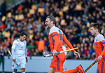 ROTTERDAM - Mirco Pruijser (NED) scoort   tijdens   de Pro League hockeywedstrijd heren, Nederland-Spanje (4-0) . COPYRIGHT KOEN SUYK