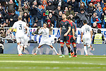 Real Madrid´s Cristiano Ronaldo celebrates a goal during 2015/16 La Liga match between Real Madrid and Celta de Vigo at Santiago Bernabeu stadium in Madrid, Spain. March 05, 2016. (ALTERPHOTOS/Victor Blanco)