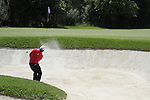 Damien McGrane (IRL) chips out of a bunker at the 4th green during Day 1 of the Open de Espana at Real Club De Golf El Prat, Terrasa, Barcelona, 5th May 2011. (Photo Eoin Clarke/Golffile 2011)