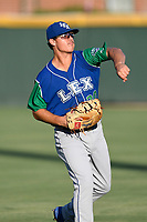 First baseman Nick Pratto (30) of the Lexington Legends warms up before a game against the Greenville Drive on Saturday, September 1, 2018, at Fluor Field at the West End in Greenville, South Carolina. Greenville won, 9-6. (Tom Priddy/Four Seam Images)