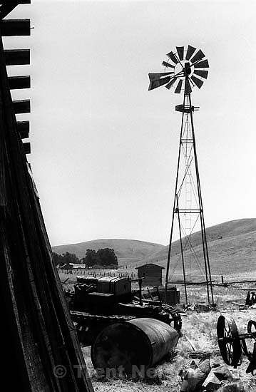 Windmill and farm on Dougherty Road.<br />
