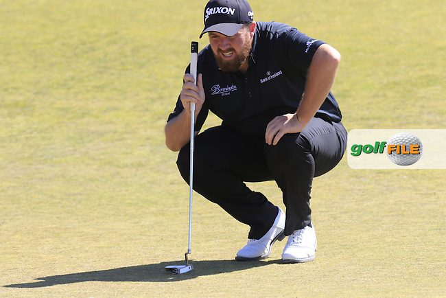 Shane LOWRY (IRL) lines up his birdie putt on 9th green during Saturday's Round 3 of the 2015 U.S. Open 115th National Championship held at Chambers Bay, Seattle, Washington, USA. 6/20/2015.<br /> Picture: Golffile | Eoin Clarke<br /> <br /> <br /> <br /> <br /> All photo usage must carry mandatory copyright credit (&copy; Golffile | Eoin Clarke)