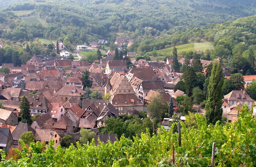 view of village from  kastelberg gc andlau alsace france