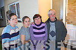 The O'Sullivan family following their ordeal at home in Listowel when the front window and door were smashed in by rocks and bottles on Monday night. .L- R Cecelia, Breda, Teresa and Pat O'Sullivan.