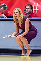 Washington, DC - August 31, 2018: Atlanta Dream head coach Nicki Collen on the sideline during semi finals playoff game between Atlanta Dream and Wasington Mystics at the Charles Smith Center at George Washington University in Washington, DC. (Photo by Phil Peters/Media Images International)