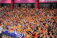 SCHAATSEN: HEERENVEEN: IJsstadion Thialf, 02-01-2013, Seizoen 2012-2013, Publiek, ©foto Martin de Jong