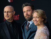 Gavin O'Connor + Ben Affleck + Lynette Howell @ the premiere of 'The Accountant' held @ the Chinese theatre in Hollywood, USA, October 10, 2016. # 'THE ACCOUNTANT' PREMIERE IN HOLLYWOOD