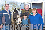 Anthony Moriss Killorglin, Darren, Dan and Mary Nagle Rathmore with their horse Blueboy at the Kingdom Hunt in Currow on Sunday