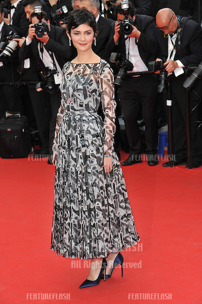 Audrey Tautou at the gala premiere of &quot;Grace of Monaco&quot; at the 67th Festival de Cannes.<br /> May 14, 2014  Cannes, France<br /> Picture: Paul Smith / Featureflash