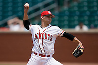 Chattanooga relief pitcher Rick Asadoorian (4) in action versus Mississippi at AT&T Field in Chattanooga, TN, Wednesday, July 25, 2007.