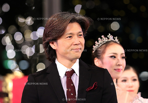 "November 10, 2016, Tokyo, Japan - Tetsuya Kumakawa, Japanese ballet dancer and director of the K Ballet Company attends the light-up ceremony of a large Christmas tree at the Marunouchi building in Tokyo on Thursday, November 10, 2016. The Marunouchi area started illumination and decoration with motif of ballet dance Tchaikovsky's ""Nutcracker"" through the Christmas Day.  (Photo by Yoshio Tsunoda/AFLO) LWX -ytd-"