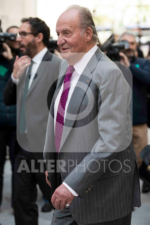 King Juan Carlos during the main event of COTEC at Crystal Gallery of the Cibeles Palace in Madrid, Spain, November 23, 2015. <br /> (ALTERPHOTOS/BorjaB.Hojas)