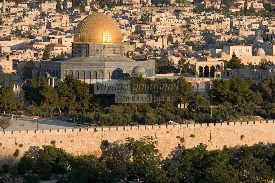 Asie/Israël/Judée/Jérusalem: la Vieille Ville dominée par le Haram el-Chérif vue depuis Mont des Oliviers