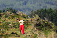Vanessa Knecht (SWI) in the rough on the 1st during Round 2 of the Women's Amateur Championship at Royal County Down Golf Club in Newcastle Co. Down on Wednesday 12th June 2019.<br /> Picture:  Thos Caffrey / www.golffile.ie