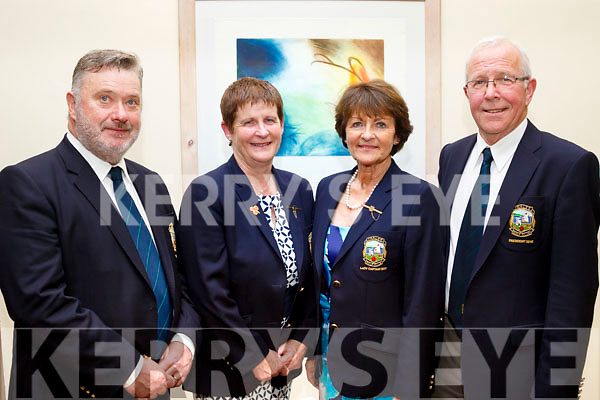 L-R John Reen, Captain of Tralee Golf Club, Geraldine Reen, Margaret Murphy, Lady Captain and John Murphy at the Captains dinner night in the Ballyroe Heights hotel, Tralee last Saturday.