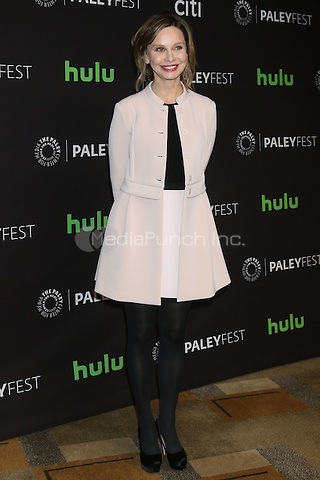 LOS ANGELES - MARCH 13: Calista Flockhart at the 33rd Annual PaleyFest Presents - Supergirl at the Dolby Theater on March 13, 2016 in Los Angeles, CA. Credit: David Edwards/MediaPunch