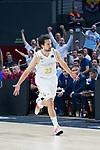 Sergio Llull celebrates a 3 points shoot during Real Madrid vs FC Barcelona final of Supercopa Endesa. September 22, 2019. (ALTERPHOTOS/Francis González)