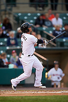Rochester Red Wings third baseman Jose Martinez (4) at bat during a game against the Lehigh Valley IronPigs on May 15, 2015 at Frontier Field in Rochester, New York.  Rochester defeated Lehigh Valley 5-4.  (Mike Janes/Four Seam Images)