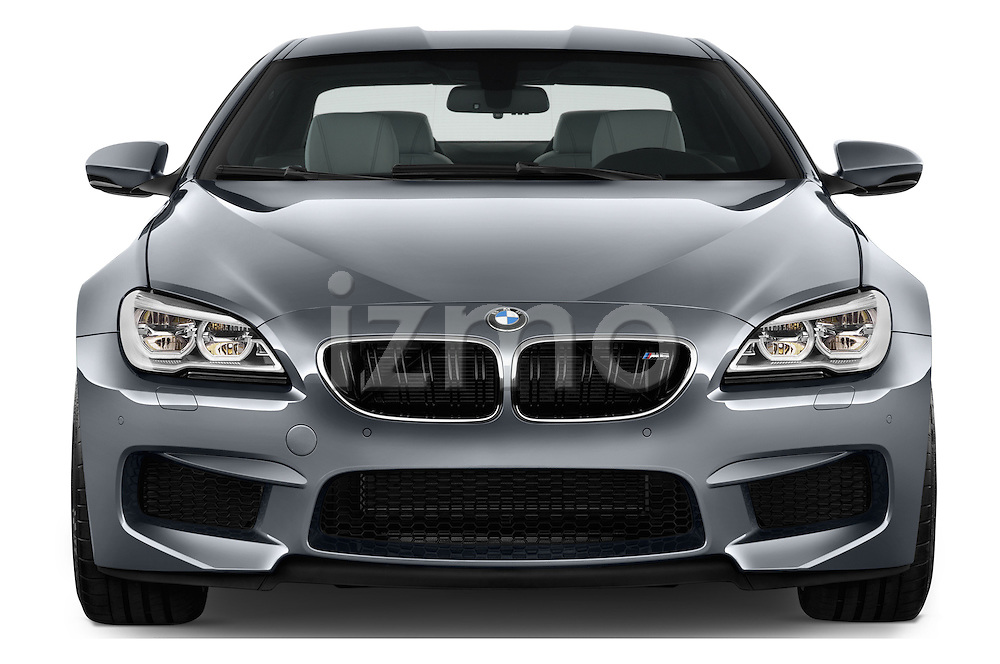 Car photography straight front view of a 2016 BMW M6 Coupe - 3 Door Coupe Front View