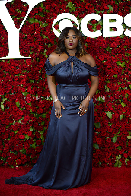www.acepixs.com<br /> June 12, 2016  New York City<br /> <br /> Danielle Brooks attending the 70th Annual Tony Awards at The Beacon Theatre on June 12, 2016 in New York City.<br /> <br /> Credit: Kristin Callahan/ACE Pictures<br /> <br /> <br /> Tel: 646 769 0430<br /> Email: info@acepixs.com