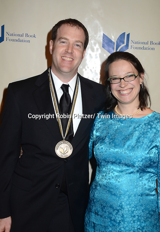 Steve Sheinkin and wife Rachel Person attends the 2012 National Book Awards Dinner and Ceremony on November 14, 2012 at Cipriani Wall Street in New York City.