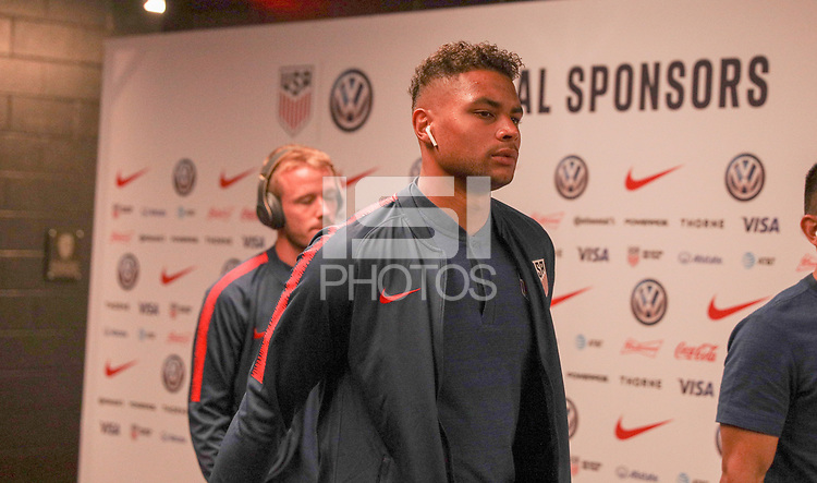 WASHINGTON D.C. - OCTOBER 11: Zack Steffen #22 of the United States walks off the team bus prior to their Nations League game versus Cuba at Audi Field, on October 11, 2019 in Washington D.C.