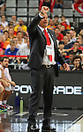 07.09.2014. Barcelona, Spain. 2014 FIBA Basketball World Cup, round of 16. Picture show Ergin Ataman in action during game between Turkey   v Australia at Palau St. Jordi