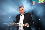 © Joel Goodman - 07973 332324 . 03/03/2016 . Manchester , UK . Eamonn O'neal presenting at the Manchester Legal Awards from the Midland Hotel . Photo credit : Joel Goodman