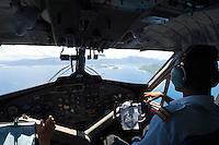 Seychelles, Island Mahé: aircraft of Air Seychelles - cockpit<br />