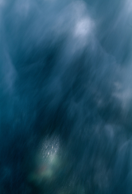 Abstract of sunlight on flowing water, Avalanche Creek, Glacier Nat'l Park, MT