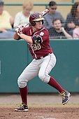 Florida State Seminoles outfielder Brett Knief (25) during a game against the South Florida Bulls on March 5, 2014 at Red McEwen Field in Tampa, Florida.  Florida State defeated South Florida 4-1.  (Copyright Mike Janes Photography)