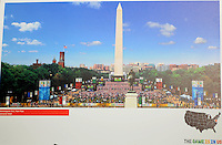 Photo of the activities at the Mall for the USA Bid  for the 2018 or 2022 FIFA World Cup at the Washington Monument , Wednesday  September 8, 2010.