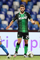 Domenico Berardi US Sassuolo<br /> during the Serie A football match between SSC  Napoli and US Sassuolo at stadio San Paolo in Naples ( Italy ), July 25th, 2020. Play resumes behind closed doors following the outbreak of the coronavirus disease. <br /> Photo Cesare Purini / Insidefoto