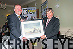 Listowel Food Fair: Pierse Walsh, chairperson of Listowel Food Fair making  a lifetime achievement award to Denis Brosnan, former CEO of Kerry Group at the Gala Dinner on Saturday night last at the Listowel Arms Hotel.