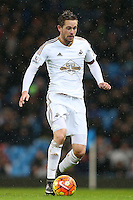 Gylfi Sigurdsson during the Barclays Premier League Match between Manchester City and Swansea City played at the Etihad Stadium, Manchester on 12th December 2015