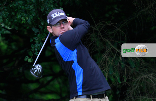 Cameron Raymond (Newlands) on the 2nd tee during Round 3 of the Irish Boys Amateur Open Championship at Tuam Golf Club on Thursday 25th June 2015.<br /> Picture:  Thos Caffrey / www.golffile.ie