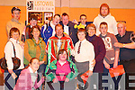 Sports fanatics: Celebrating the arrival of the Heineken Cup at the Listowel Community Centre last Thursday with Munster's Ray Gadsden were the North Kerry Eagles.   Copyright Kerry's Eye 2008