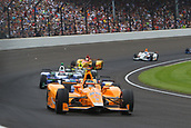 May 28th Indianapolis Speedway, Indiana, USA; The 101st Indianapolis 500 on May 28th, 2017 at the Indianapolis Motor Speedway in Indianapolis, IN.  #29 FERNANDO ALONSO (ESP) MCLAREN HONDA ANDRETTI (USA) HONDA