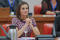 MADRID, SPAIN – OCTOBER 09: Queen Letizia attends the international mental diseases day at the national congress in Madrid, Spain on the 9th of October of 2018.  ***NO SPAIN***<br /> CAP/MPI/RJO<br /> ©RJO/MPI/Capital Pictures
