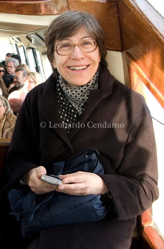Venice, Italy, 2008. Rosaria Carpinelli, editorial director of Fandango publishing.