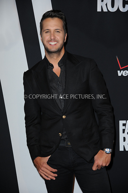 WWW.ACEPIXS.COM<br /> September 9, 2014 New York City<br /> <br /> Luke Bryan attending Fashion Rocks 2014 at the Barclays Center September 9, 2014 in New York City.<br /> <br /> Please byline: Kristin Callahan/AcePictures<br /> <br /> ACEPIXS.COM<br /> <br /> Tel: (212) 243 8787 or (646) 769 0430<br /> e-mail: info@acepixs.com<br /> web: http://www.acepixs.com
